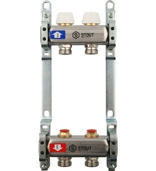 SMS 0922 000002 STOUT Коллектор из нержавеющей стали без расходомеров 2 вых.
