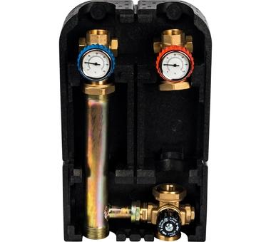SDG-0002-002501 STOUT Насосная группа с термостатическим смесительным клапаном 1″ без насоса