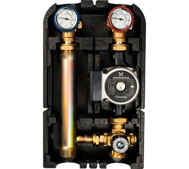SDG-0002-002502 STOUT Насосная группа с термостатическим смесительным клапаном 1″с насосом Grundfos UPSO 25-65