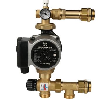 SDG-0020-004001 STOUT Насосно-смесительный узел с термостатическим клапаном 20-43°C, с насосом