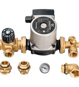 SDG-0020-001002 STOUT Насосно-смесительный узел с термостатическим клапаном; Grundfos UPSO 25-65 130