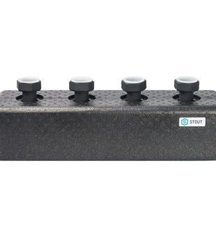 SDG-0016-004002 STOUT Стальной распределительный коллектор 2 отопительных контура. В теплоизоляции DN 254