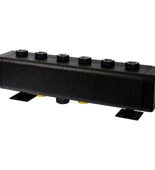 SDG-0016-005003 STOUT Стальной распределительный коллектор 3 отопительных контура. В теплоизоляции DN 32