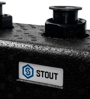 SDG-0017-004035 STOUT Стальной распределительный коллектор 3(5) отопительных контура. В теплоизоляции DN 254