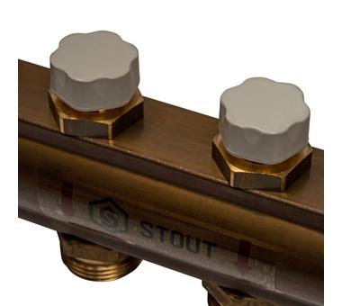 SMB 0468 000008 STOUT Распределительный коллектор из латуни без расходомеров 8 вых.10