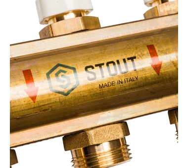 SMB 0468 000011 STOUT Распределительный коллектор из латуни без расходомеров 11 вых.5