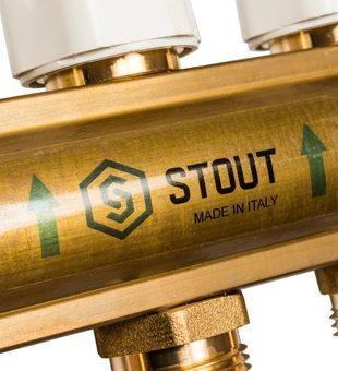 SMB 0468 000011 STOUT Распределительный коллектор из латуни без расходомеров 11 вых.6