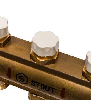 SMB 0468 000011 STOUT Распределительный коллектор из латуни без расходомеров 11 вых.8