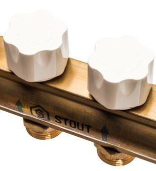 SMB 0468 000012 STOUT Распределительный коллектор из латуни без расходомеров 12 вых.7