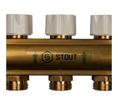 SMB 0473 000005 STOUT Распределительный коллектор из латуни с расходомерами 5 вых.8