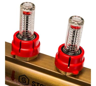 SMB 0473 000010 STOUT Распределительный коллектор из латуни с расходомерами 10 вых.5
