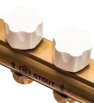SMB 0473 000010 STOUT Распределительный коллектор из латуни с расходомерами 10 вых.6