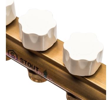 SMB 0473 000011 STOUT Распределительный коллектор из латуни с расходомерами 11 вых.6
