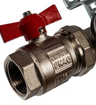 SMS 0907 000003 STOUT Коллектор из нержавеющей стали в сборе с расходомерами 3 вых.