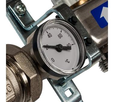 SMS 0907 000004 STOUT Коллектор из нержавеющей стали в сборе с расходомерами 4 вых.
