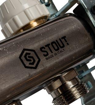 SMS 0907 000005 STOUT Коллектор из нержавеющей стали в сборе с расходомерами 5 вых.10