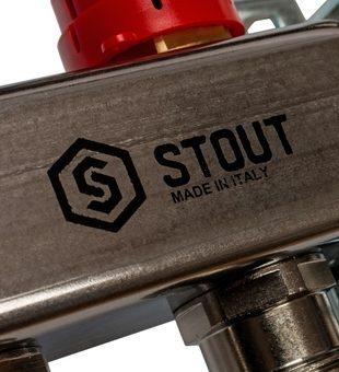 SMS 0907 000006 STOUT Коллектор из нержавеющей стали в сборе с расходомерами 6 вых.10