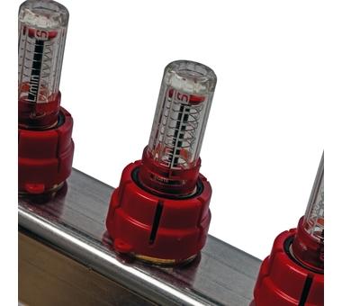 SMS 0907 000006 STOUT Коллектор из нержавеющей стали в сборе с расходомерами 6 вых.8