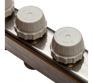 SMS 0907 000006 STOUT Коллектор из нержавеющей стали в сборе с расходомерами 6 вых.9