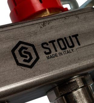 SMS 0907 000007 STOUT Коллектор из нержавеющей стали в сборе с расходомерами 7 вых.10