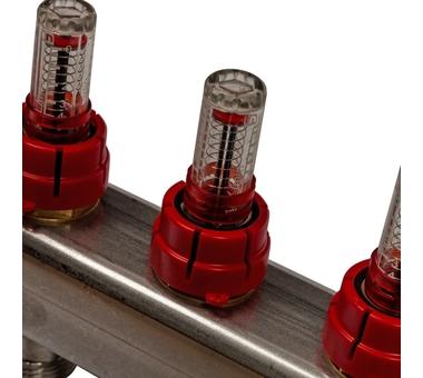 SMS 0907 000007 STOUT Коллектор из нержавеющей стали в сборе с расходомерами 7 вых.8