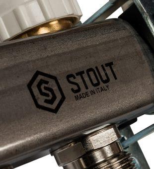 SMS 0907 000008 STOUT Коллектор из нержавеющей стали в сборе с расходомерами 8 вых.9