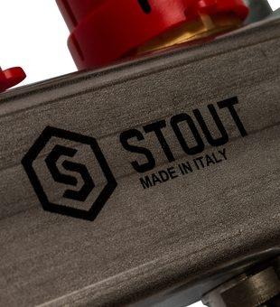 SMS 0907 000009 STOUT Коллектор из нержавеющей стали в сборе с расходомерами 9 вых.9