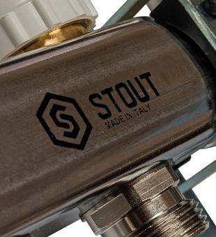 SMS 0907 000010 STOUT Коллектор из нержавеющей стали в сборе с расходомерами 10 вых.10