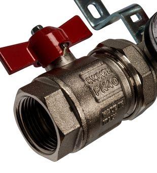 SMS 0907 000010 STOUT Коллектор из нержавеющей стали в сборе с расходомерами 10 вых.4