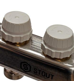 SMS 0907 000010 STOUT Коллектор из нержавеющей стали в сборе с расходомерами 10 вых.9