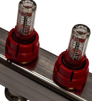 SMS 0907 000011 STOUT Коллектор из нержавеющей стали в сборе с расходомерами 11 вых.8