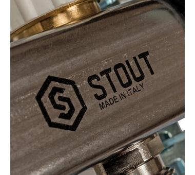 SMS 0907 000012 STOUT Коллектор из нержавеющей стали в сборе с расходомерами 12 вых.10