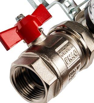 SMS 0912 000002 STOUT Коллектор из нержавеющей стали в сборе без расходомеров 2 вых.1