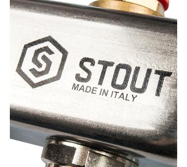 SMS 0912 000002 STOUT Коллектор из нержавеющей стали в сборе без расходомеров 2 вых.8