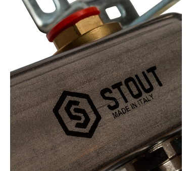 SMS 0912 000004 STOUT Коллектор из нержавеющей стали в сборе без расходомеров 4 вых.
