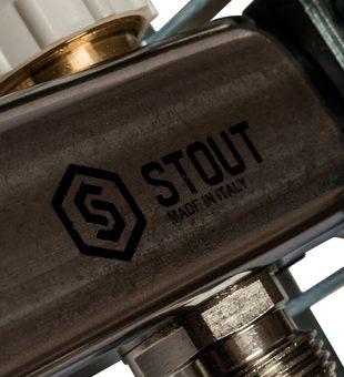 SMS 0912 000006 STOUT Коллектор из нержавеющей стали в сборе без расходомеров 6 вых.10