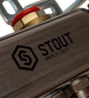 SMS 0912 000007 STOUT Коллектор из нержавеющей стали в сборе без расходомеров 7 вых.9