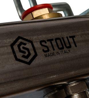 SMS 0912 000008 STOUT Коллектор из нержавеющей стали в сборе без расходомеров 8 вых.9