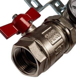 SMS 0912 000009 STOUT Коллектор из нержавеющей стали в сборе без расходомеров 9 вых.4