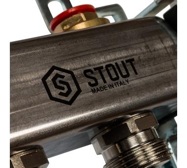 SMS 0912 000009 STOUT Коллектор из нержавеющей стали в сборе без расходомеров 9 вых.9