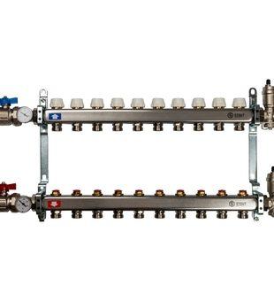 SMS 0912 000010 STOUT Коллектор из нержавеющей стали в сборе без расходомеров 10 вых.
