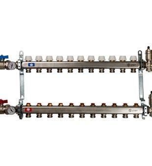 SMS 0912 000011 STOUT Коллектор из нержавеющей стали в сборе без расходомеров 11 вых.