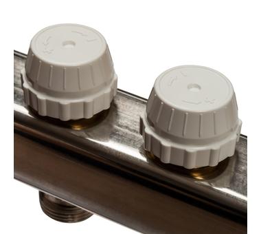 SMS 0912 000011 STOUT Коллектор из нержавеющей стали в сборе без расходомеров 11 вых.8