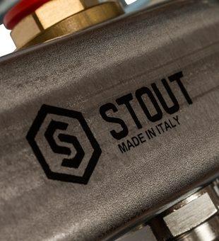SMS 0912 000011 STOUT Коллектор из нержавеющей стали в сборе без расходомеров 11 вых.9