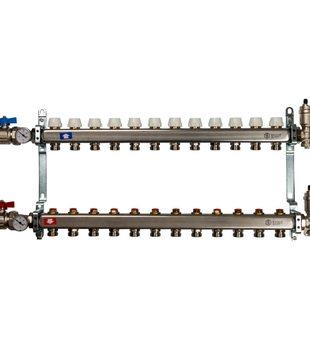 SMS 0912 000012 STOUT Коллектор из нержавеющей стали в сборе без расходомеров 12 вых.