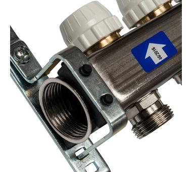 SMS 0917 000004 STOUT Коллектор из нержавеющей стали с расходомерами 4 вых.3