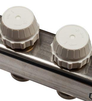 SMS 0917 000004 STOUT Коллектор из нержавеющей стали с расходомерами 4 вых.5