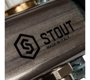 SMS 0917 000004 STOUT Коллектор из нержавеющей стали с расходомерами 4 вых.6