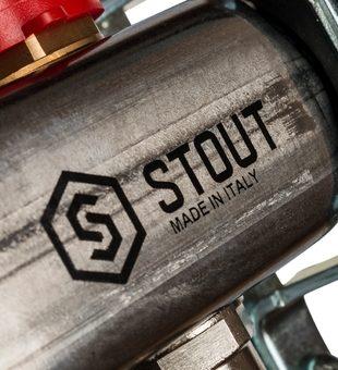 SMS 0917 000005 STOUT Коллектор из нержавеющей стали с расходомерами 5 вых.6