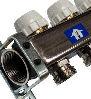 SMS 0917 000006 STOUT Коллектор из нержавеющей стали с расходомерами 6 вых.2